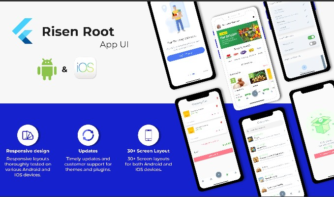 Ecommerce Grocery App UI Kit with Flutter 30 Screens for Android and IOS with source code