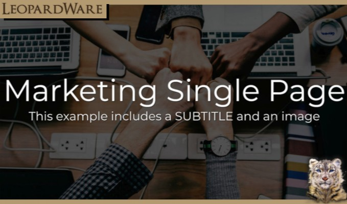 Marketing Website Template with Source Code