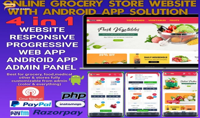 Grocery and Vegetables Website with Code