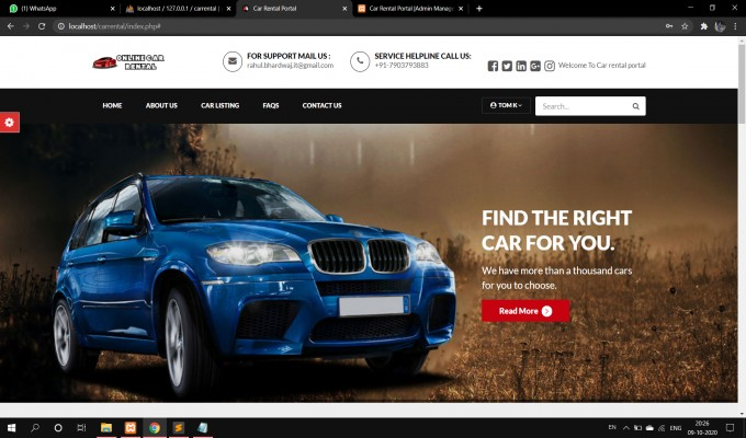 Car Rental Services Website with Source Code