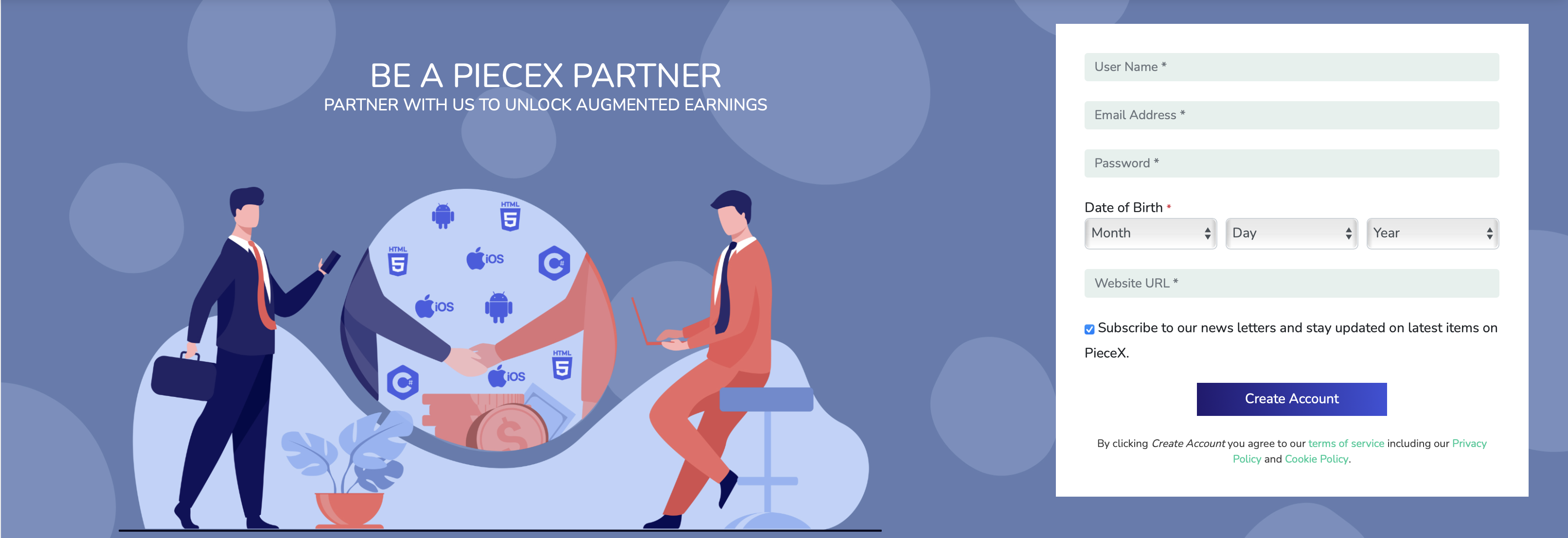 PieceX Partner program, sell source code with us